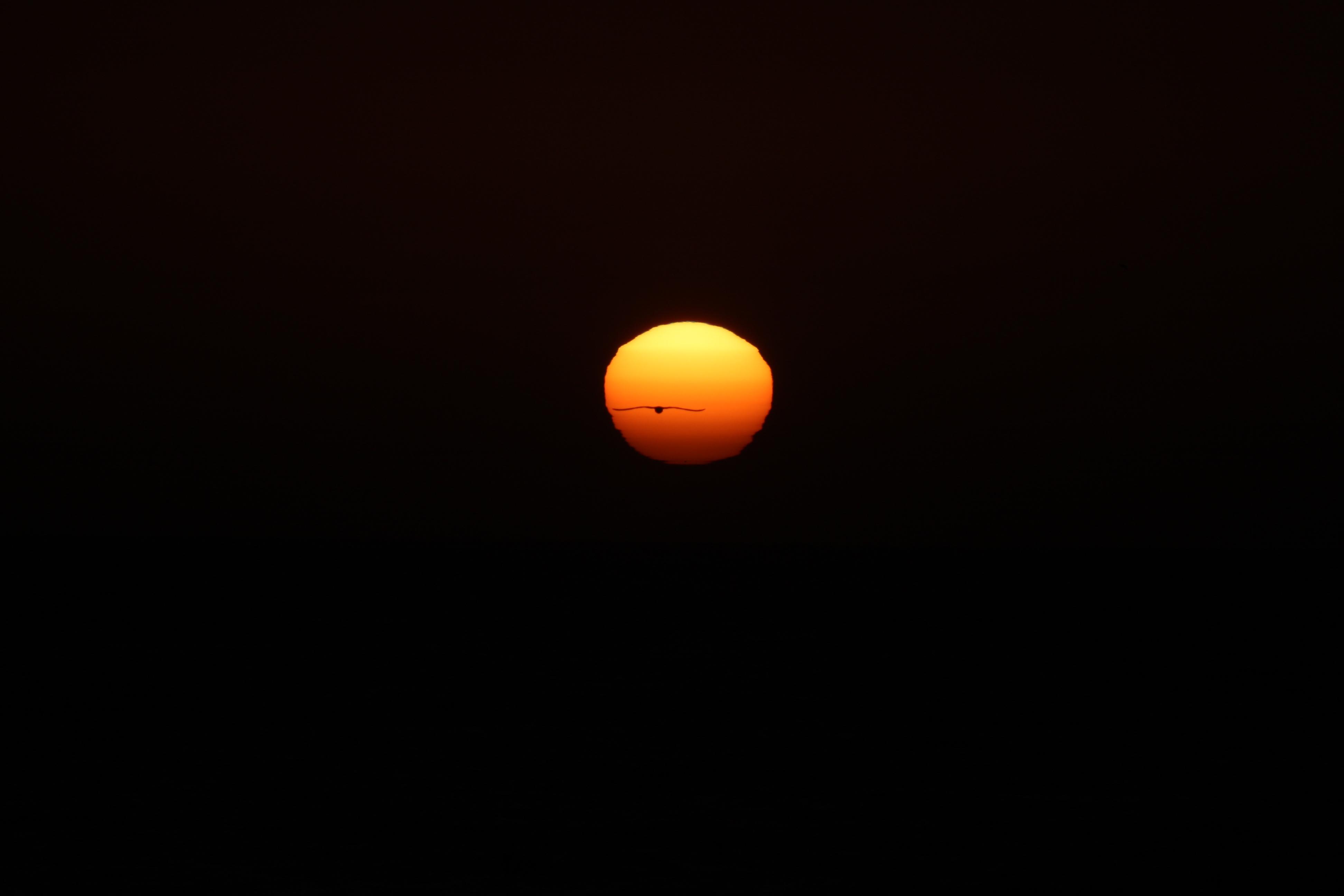 [Coucher de Soleil depuis La Serena, Chili, le 9 février 2009]