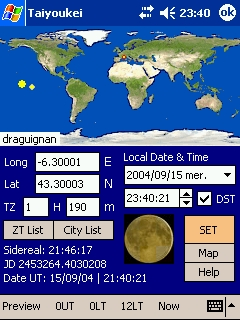 LOGICIELS ASTRONOMIE T_SETTINGS