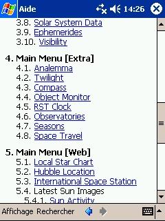 LOGICIELS ASTRONOMIE T_main_menu2