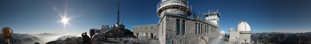 Mission Pic du Midi septembre 2014 : timelapse, grands champs stellaires... Panorama201409-r