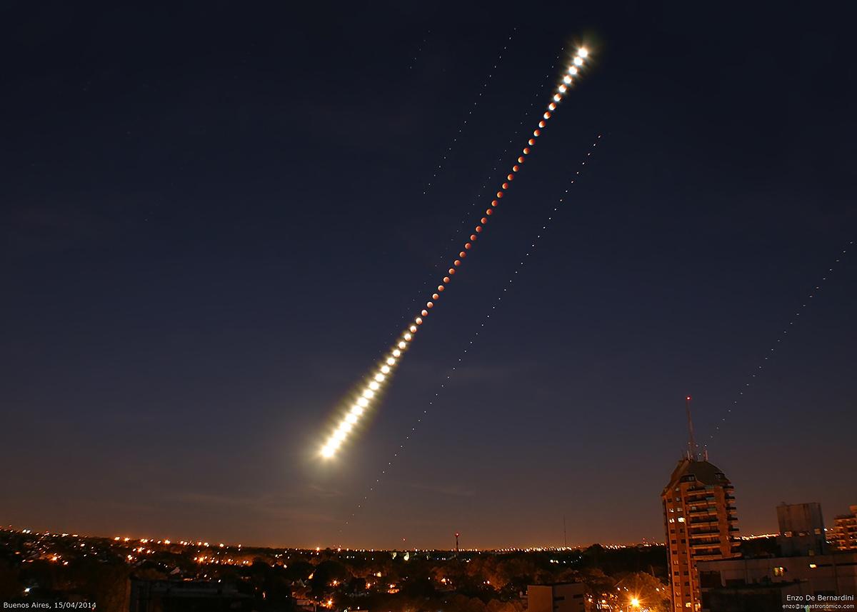 Secuencia del Eclipse Lunar - 15/04/2014 .:. Astronomía Sur | 1200 x 857 jpeg 234kB