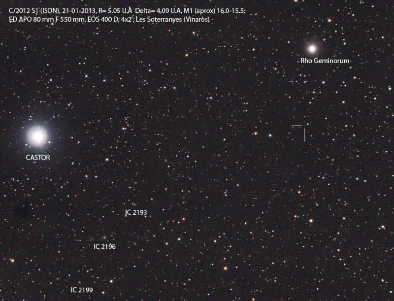 C/2012 S1 (ISON) otro cometa potencialmente brillante C2012S1_20120121_DID%202%20m