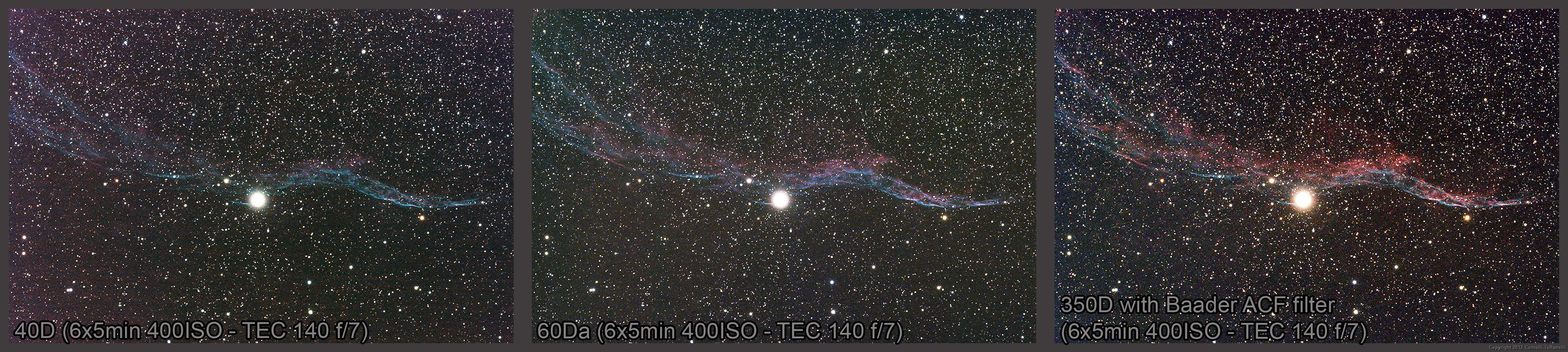Camera Canon 20da Dslr Camera canon eos 60da the return to astrophotography user reviews fig 4 veil nebula ngc6960 obtained from tradate va italy a heavily light polluted city tec 140 apo refractor with field f