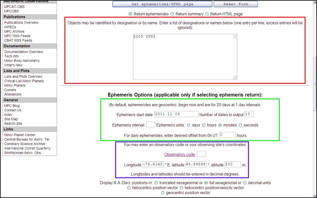 how to use jpl ephemeris