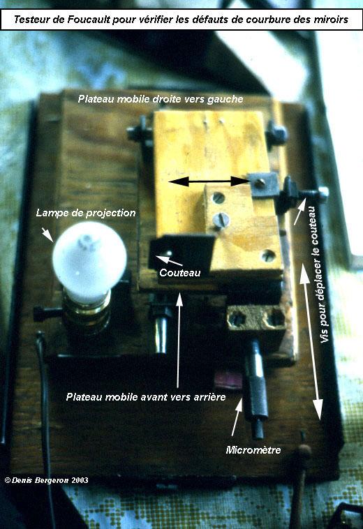 L 39 appareil de foucault for Miroir parabolique telescope