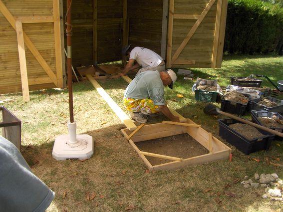 instalacion de rieles para mesa con telescopio