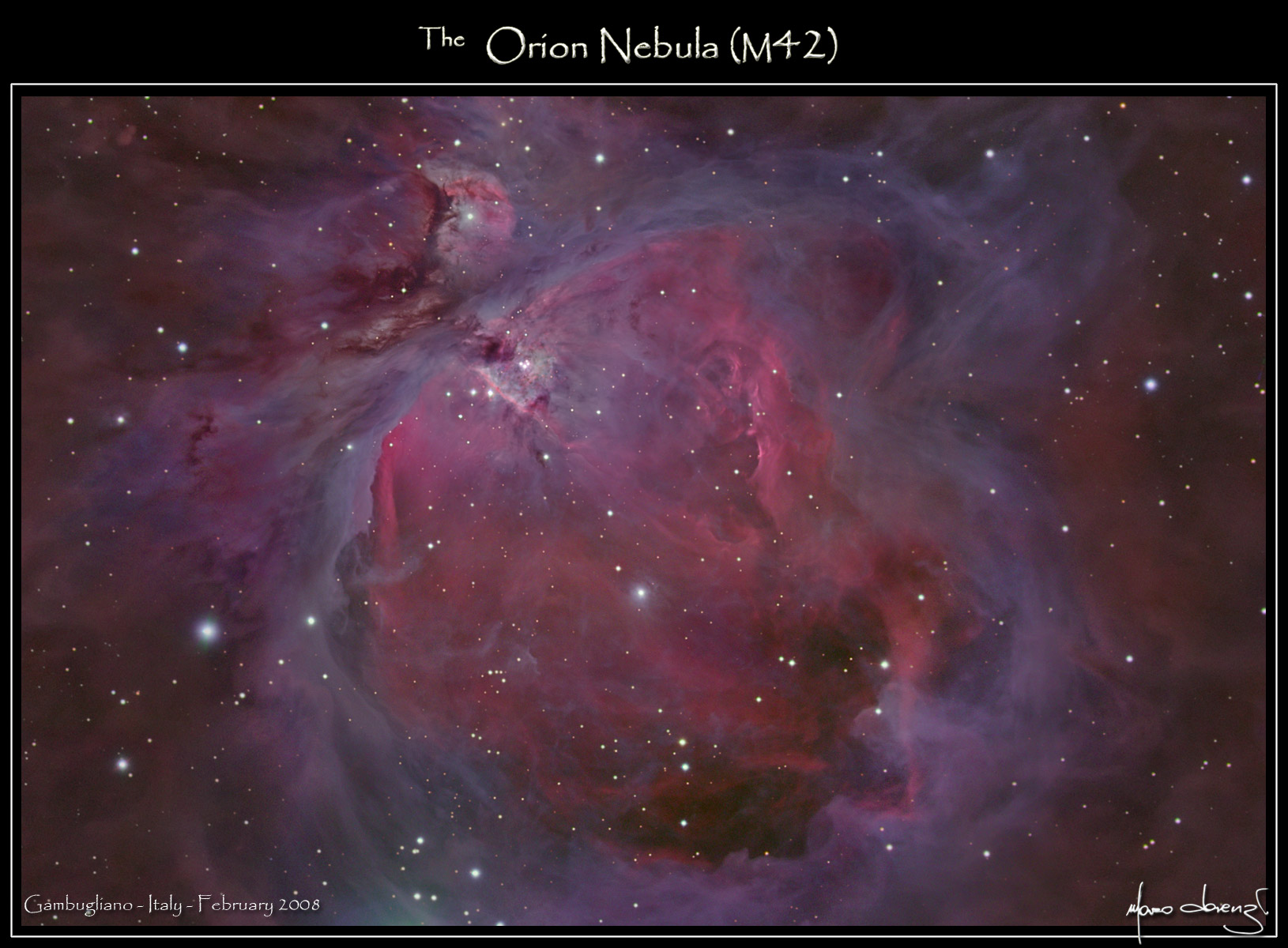 orion nebula location - HD 1630×1200