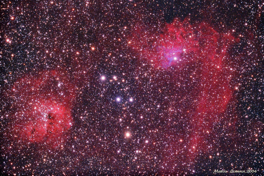 IC405 and IC410 Flaming Star Nebula