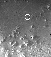 Le site de Cydonia sur Mars. Image prise la sonde Viking 1 Orbiter. Document NSSDC 035A72.
