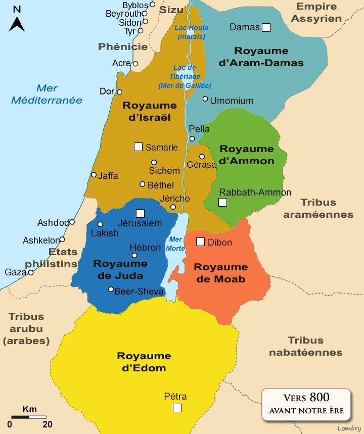 Une histoire abrégée de l`Ancien Testament – (avec images et cartes géographiques) Royaumes-levant-tradition-800acn