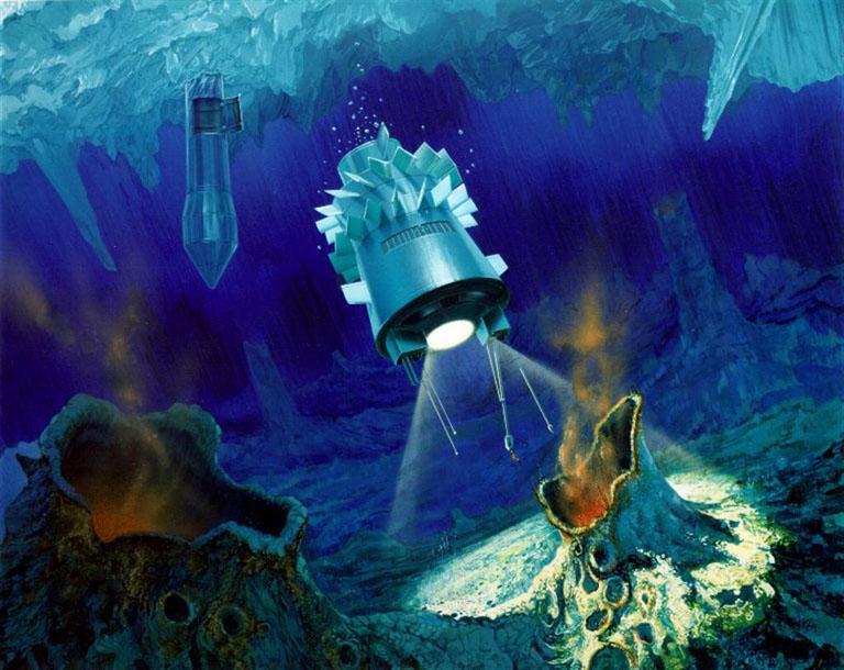 Les dernières données de la Nasa démontrent qu'il y a de l'eau sous la surface glacée d'Europe, une des lunes de Jupiter Sat-cryobot