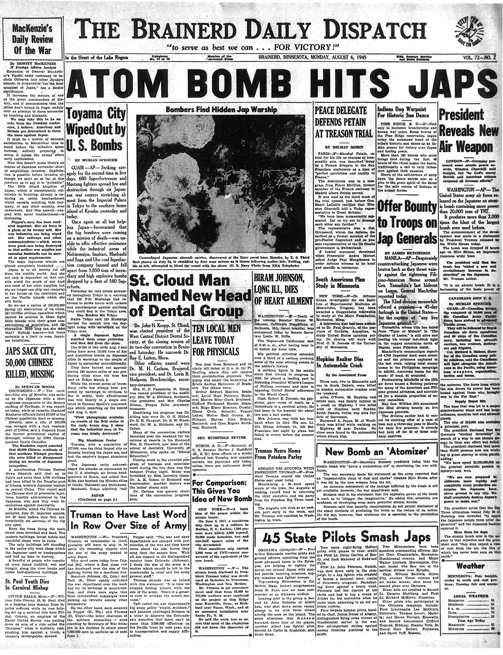 atomic bomb on hiroshima essay On 6 august 1945, the first atomic bomb to be dropped on foreign soil was released from enola gay on hiroshima, japan this nuclear bomb, named.