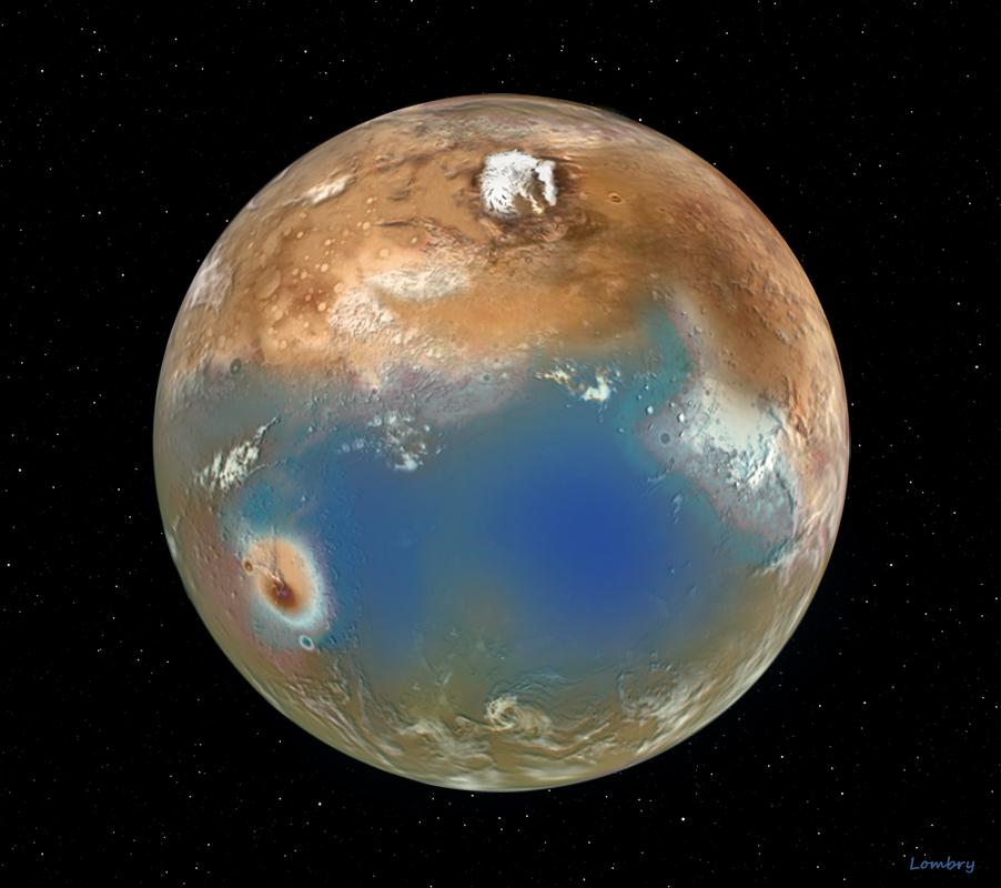 Terraforming Of Mars: Solar System Rendering