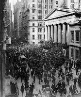 The crash of Wallstreet in 1929.