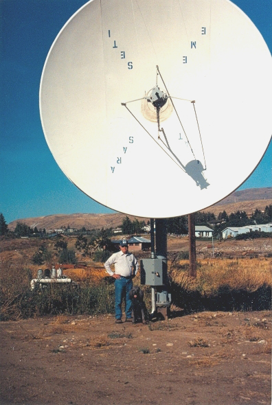 the design and building of a large dish antenna rotor