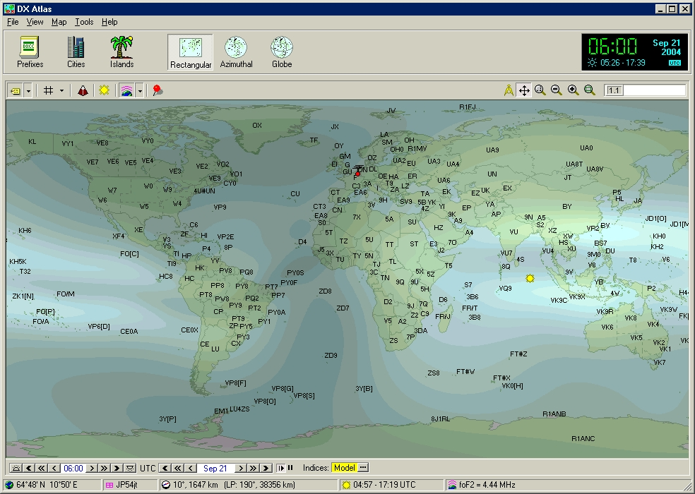 Hf propagation tutorial f2 region critical frequency map showing some islands of ionization along the equatorial region called the equatorial anomaly gumiabroncs Choice Image
