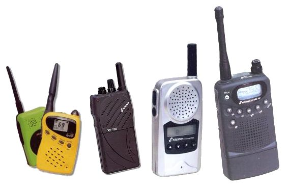 These are handheld UHF transceivers working between 433 and 447 MHz.