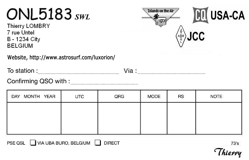 Enchanting Qsl Card Template Sketch Example Resume Ideas - Qsl card template