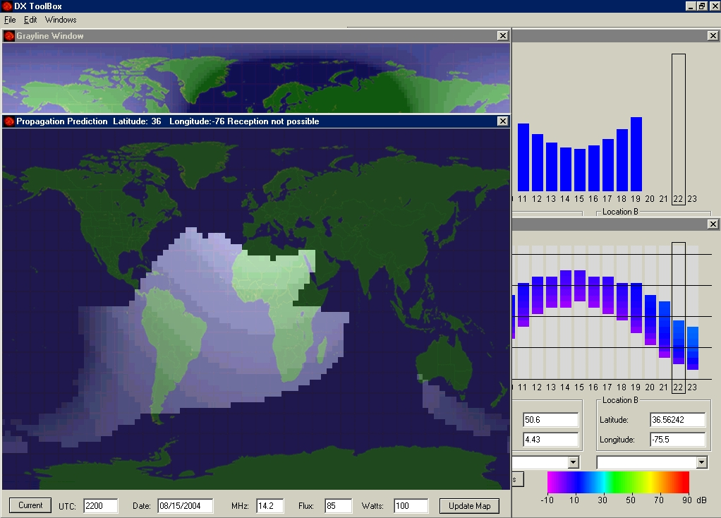 signal strength mapping software radio Amateur
