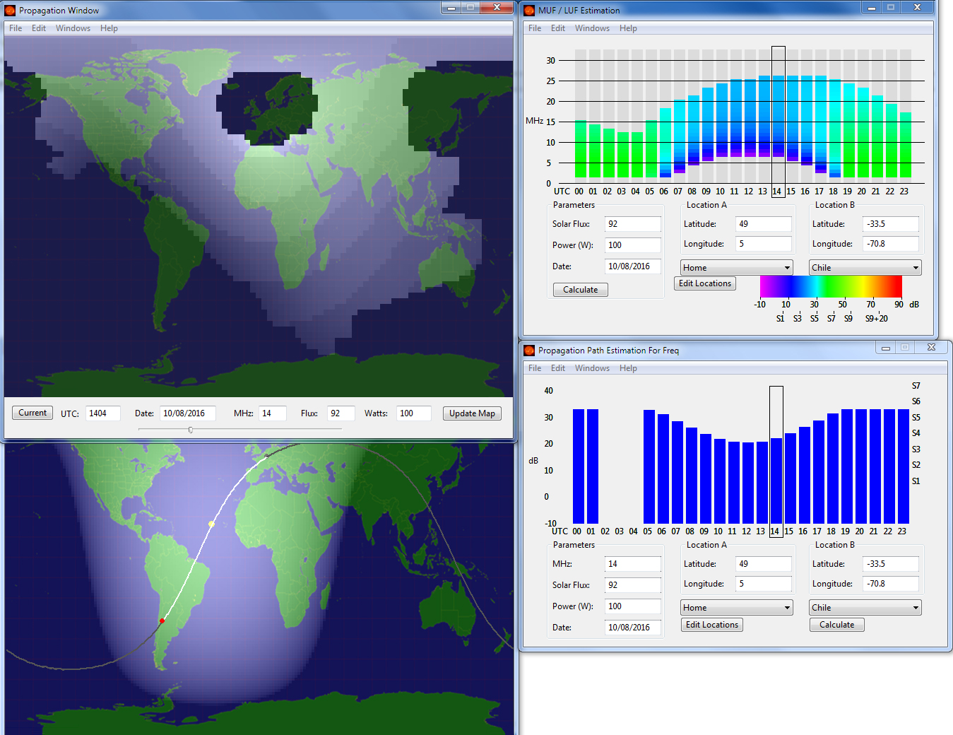 mapping strength software Amateur signal radio