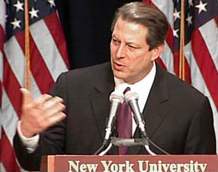 al gores speeches Al gore was back in a rare return to presidential politics, mr gore, who was bill clinton's vice president, joined hillary clinton for a 45-minute.