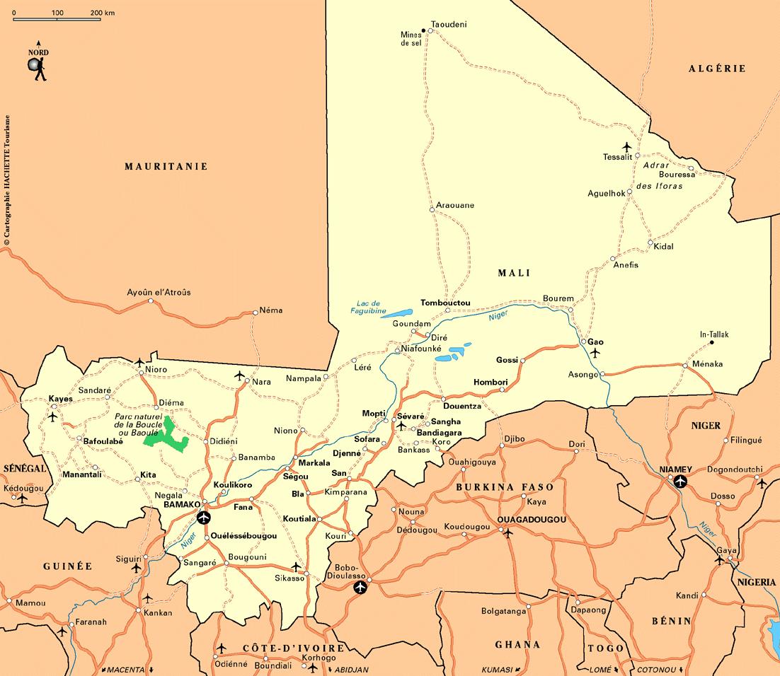Cartes générales sur le Mali