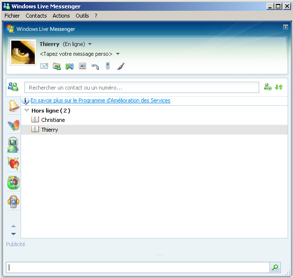 Rencontre msn messenger