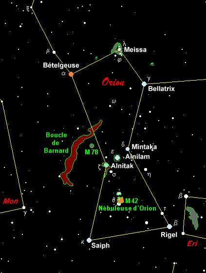 Très Hommage à Orion - Description de la constellation d'Orion JD71
