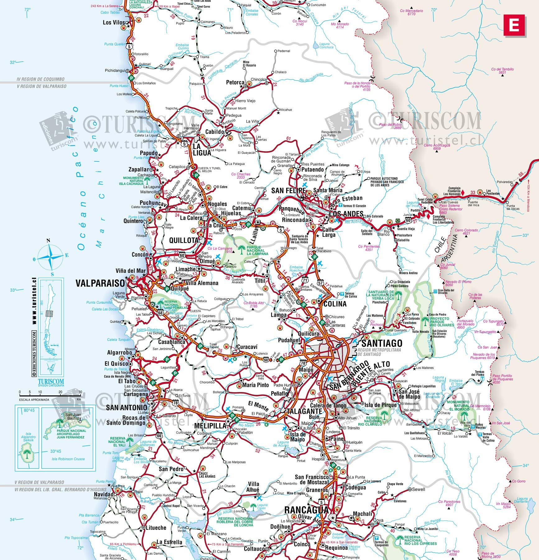 Mapa Rutero Tarapaca Chile