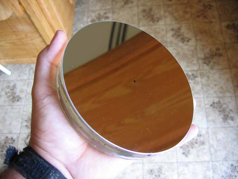 Denis bergeron a d but la fabrication de son miroir de for Miroir fabrication