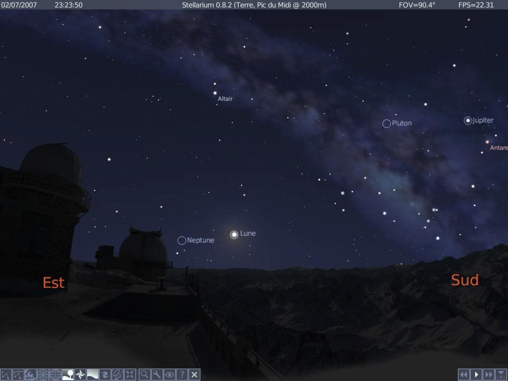 paysage pour stellarium