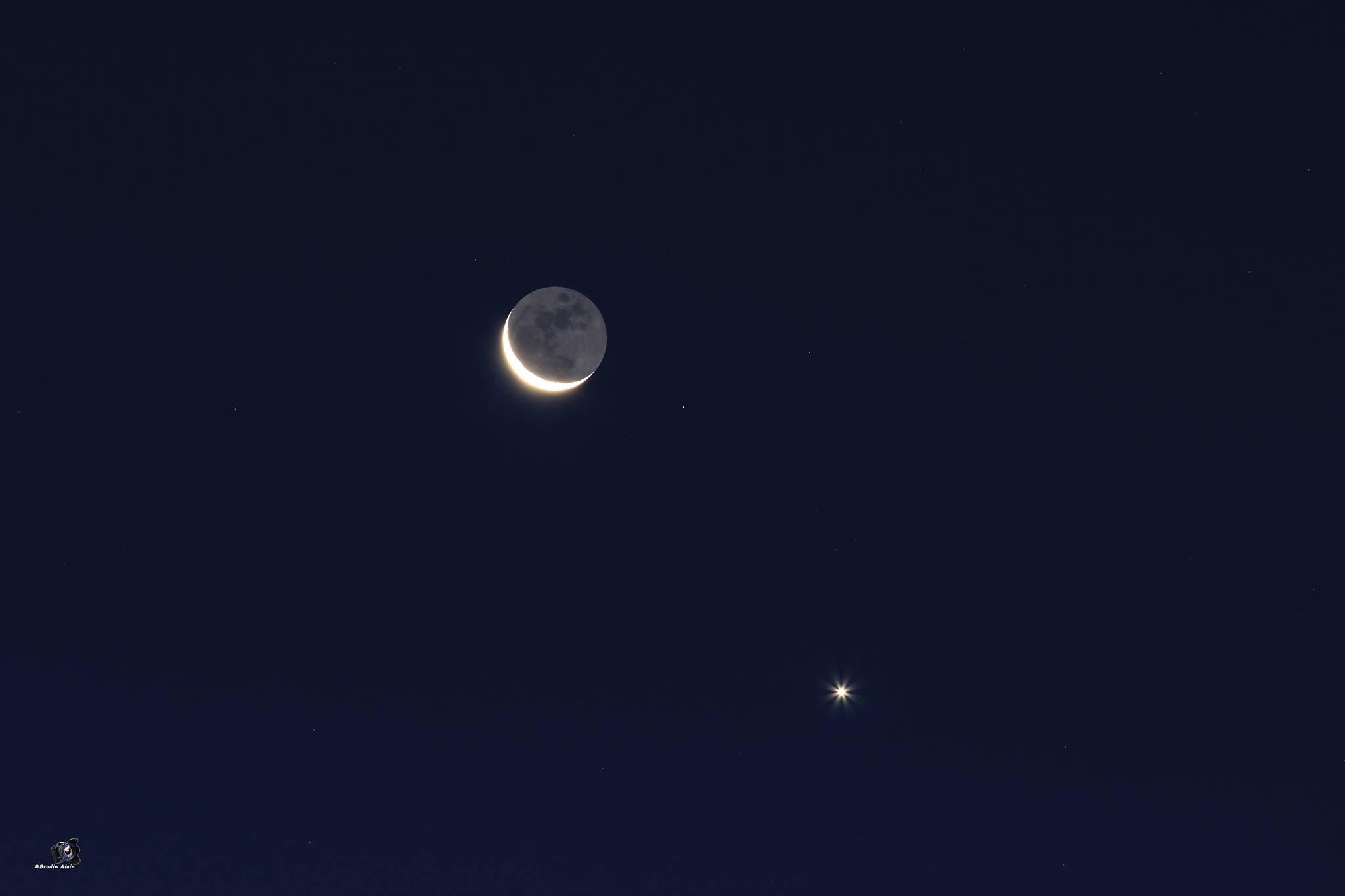 Rapprochement Lune ,Vénus du 10 09 2015