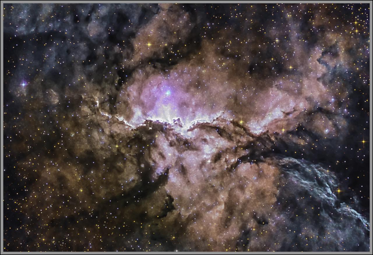 NGC 6188 Space Fighting Dragons Ha + RGB