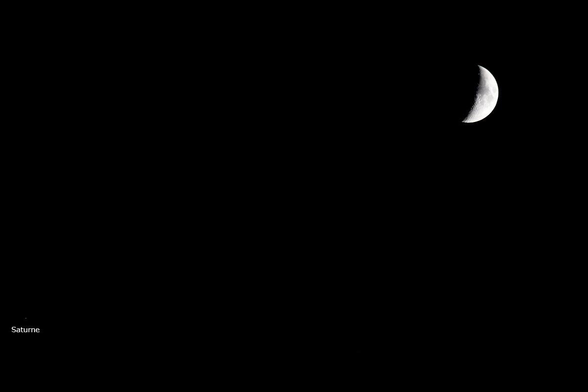Lune et Saturne