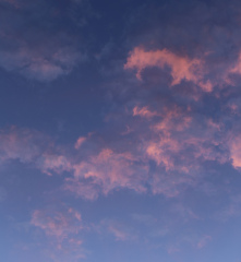 nuages roses...