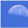 Lune de jour du 13 septembre 2017