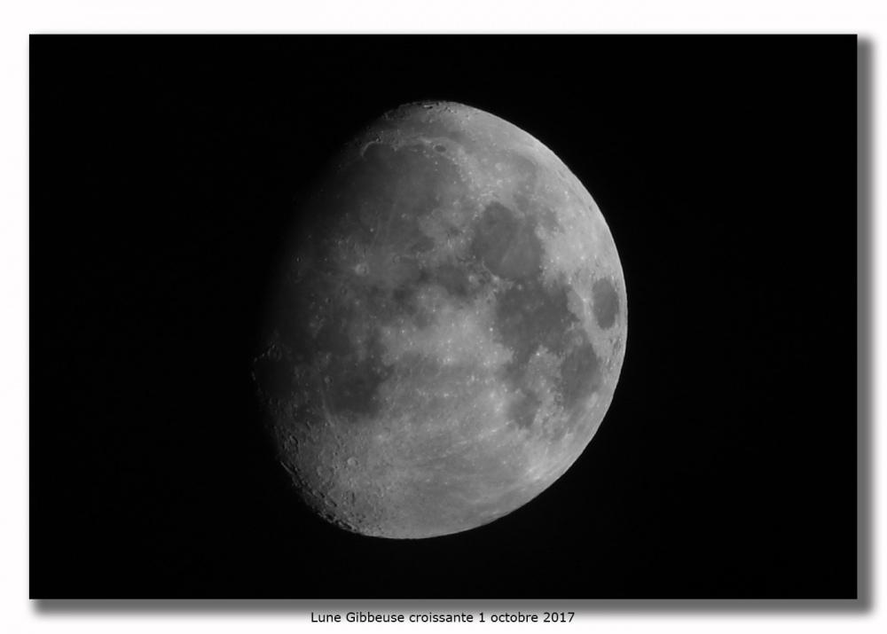 Lune du 1 octobre 2017 astrophotographie astrosurf - Lune descendante octobre 2017 ...