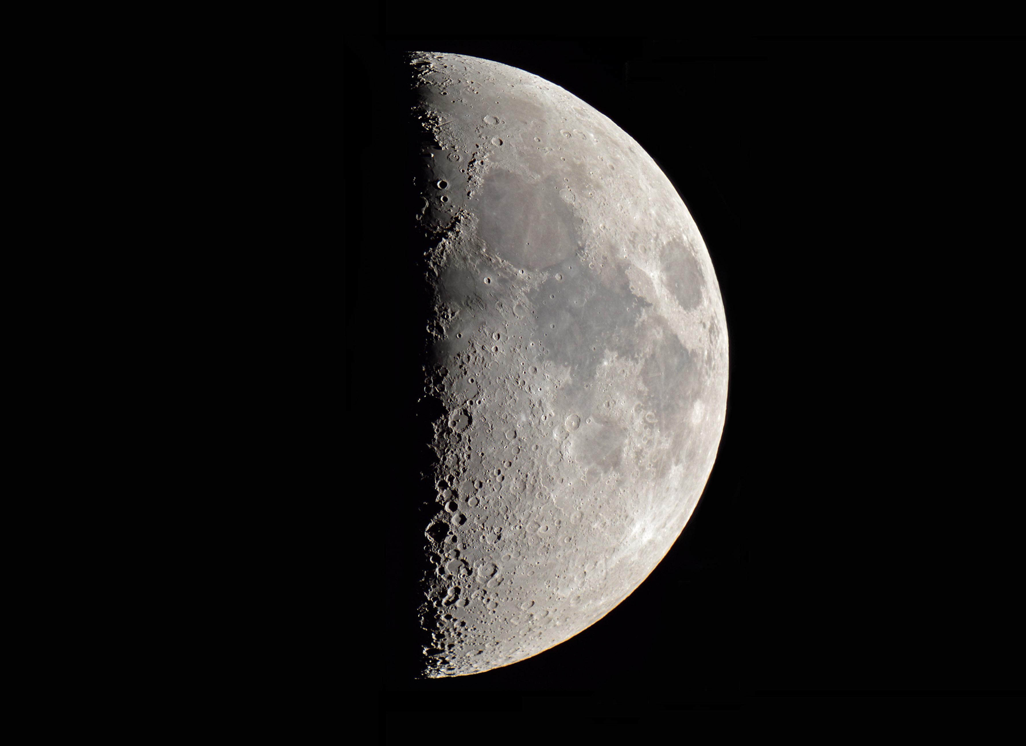 Quartier de lune du 271017 au c8 sony a7s comparatif chantillonnage moyen et s v re - Lune descendante octobre 2017 ...