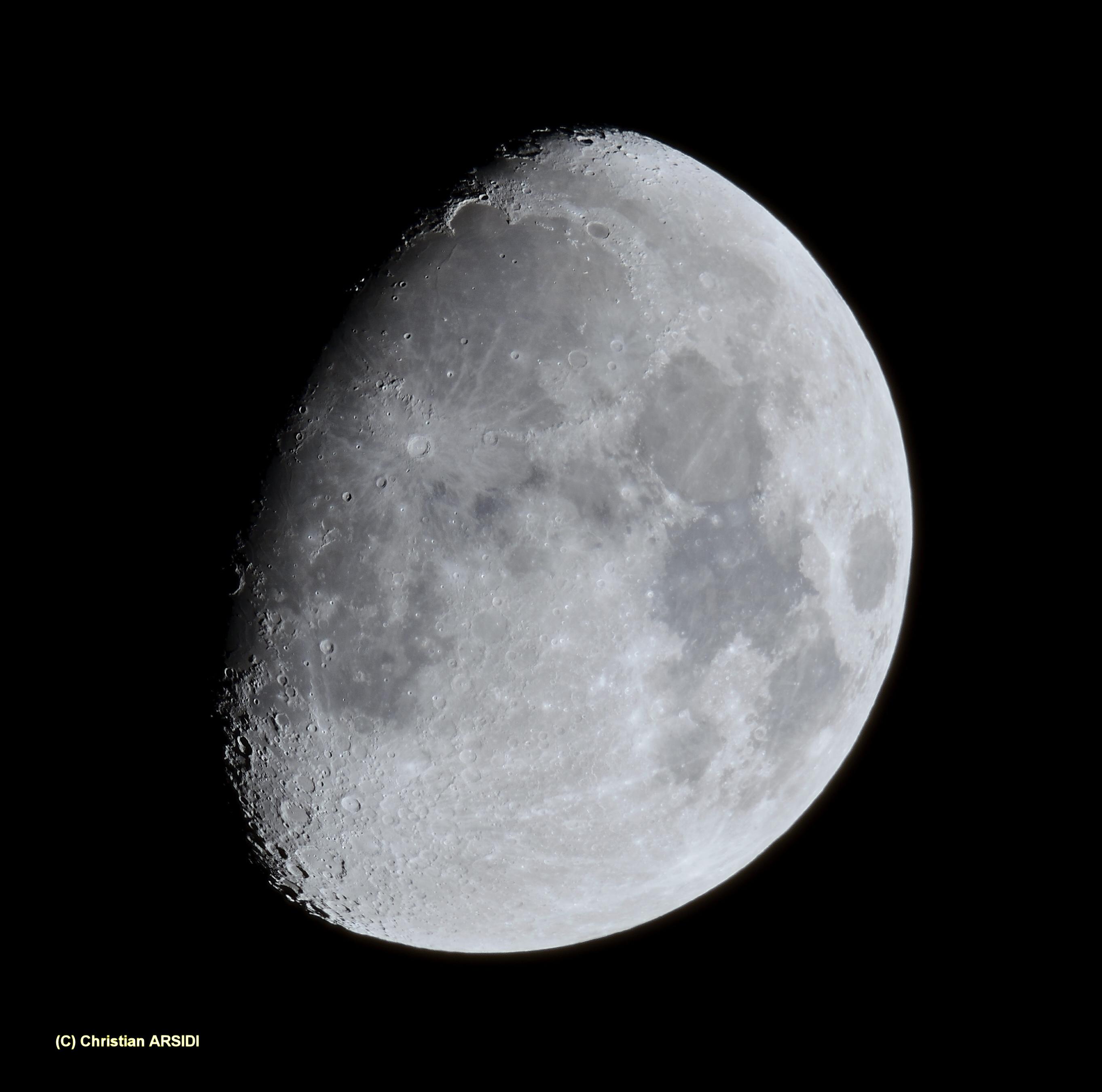 La lune du 30 octobre avec le sigma 150 600 mm et nikon d500 astrophotographie astrosurf - Lune descendante octobre 2017 ...