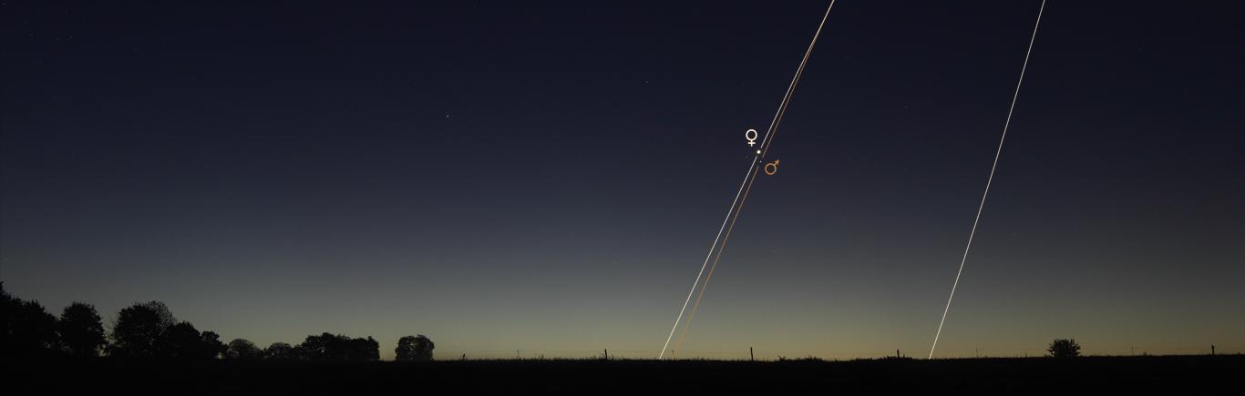Conjonction entre Vénus et Mars, le 5 octobre 2017