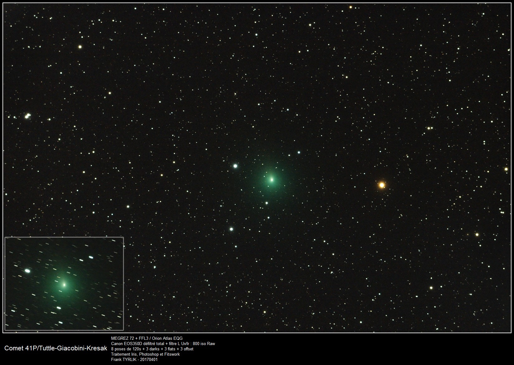 Comète 41P/Tuttle-Giaconini-Kresak - 01/04/2017