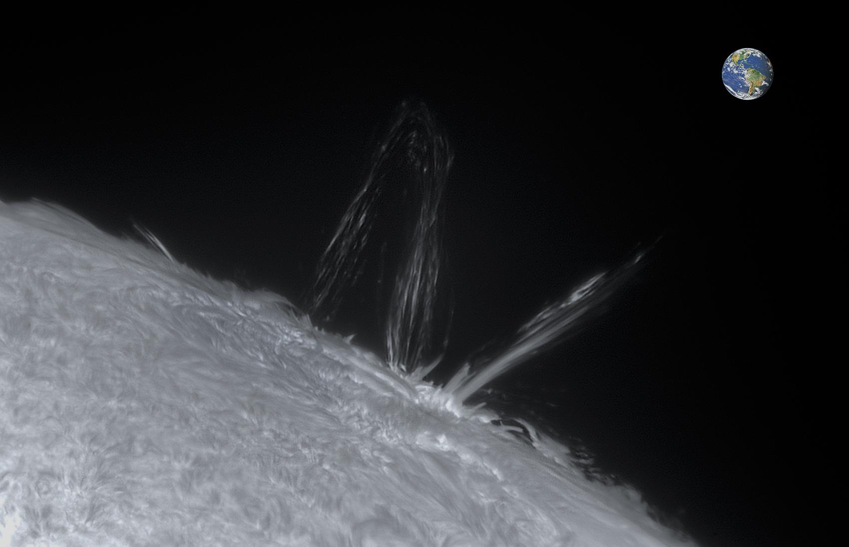 Soleil - Eruption solaire - 04/04/2017