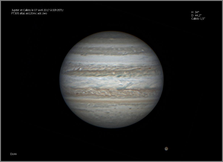 Jupiter et Callisto le 7 avril 2017 00h35TU
