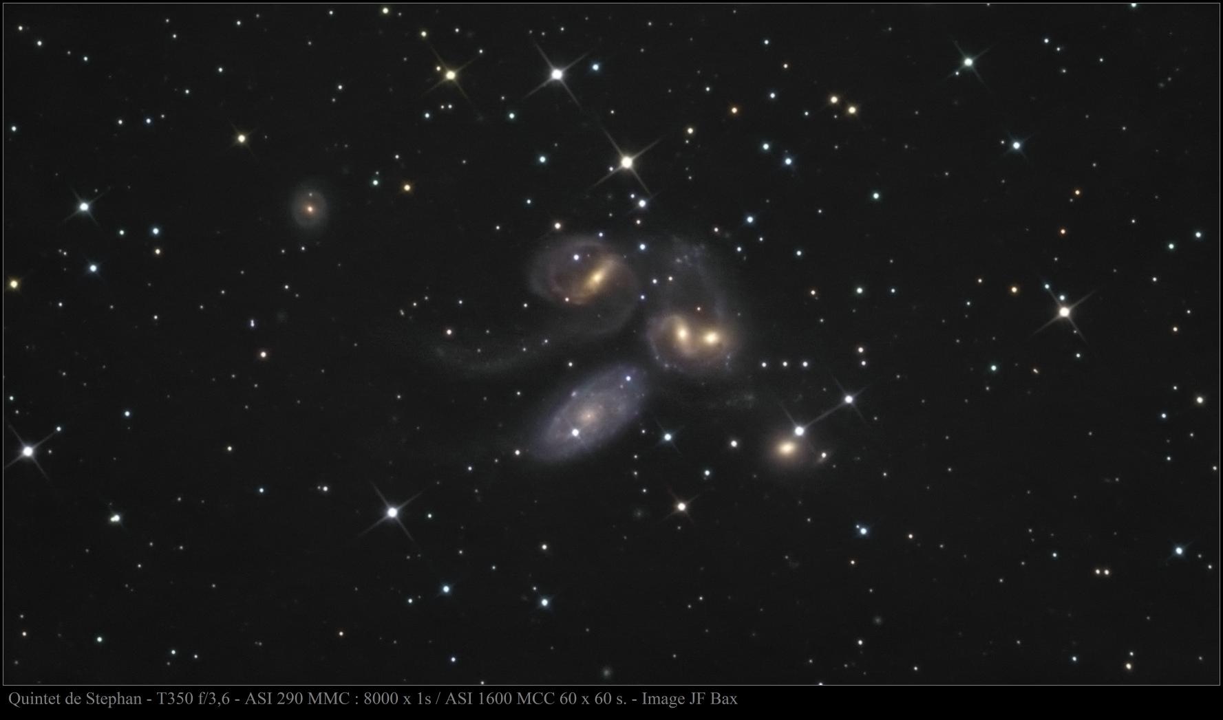 Quintet de Stephan en poses hybrides