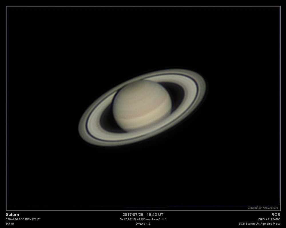 Saturne - 29/07/2017 19:43 TU