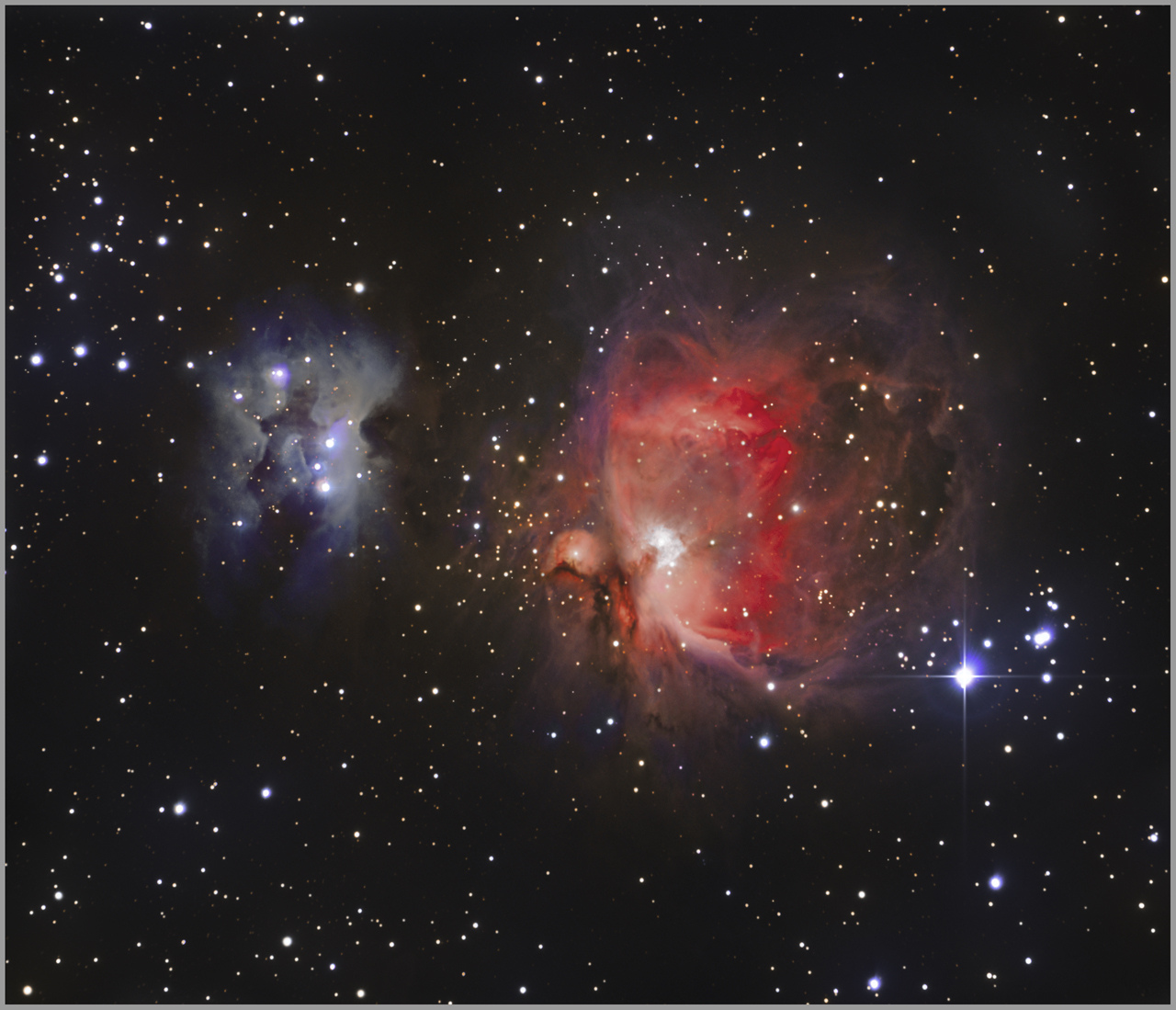 M 42/43 Nébuleuse d'Orion et Running Man