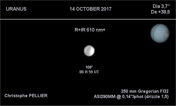 Uranus en R+IR le 14 octobre 2017
