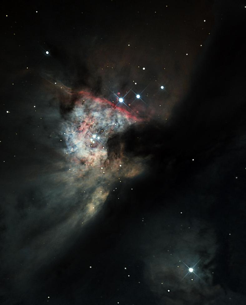 Coeur de M42 en poses courtes