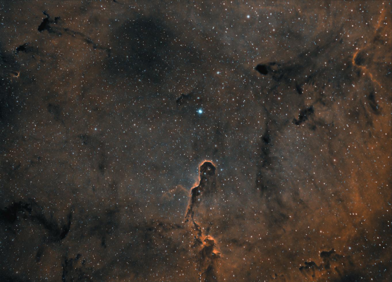 La trompe IC 1396 en HOO