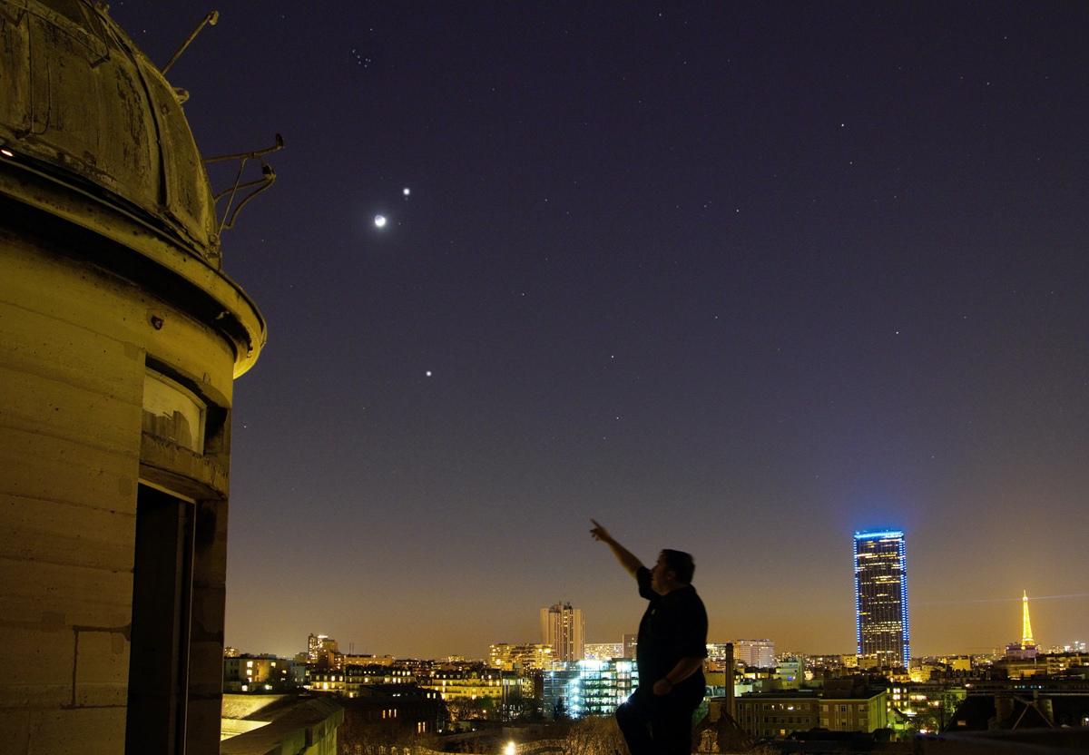 Conjonction Lune, Vénus, Jupiter du 25 mars 2012